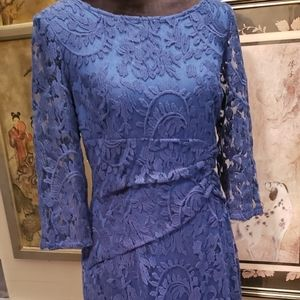 Adrianna Papell Blue Lace Dress  sz8